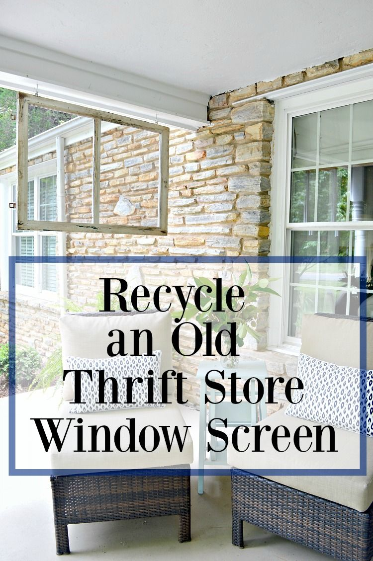 Adding Curb Appeal With An Old Wood Window Screen Chatfield Court Old Window Screens Window Screens Diy Window Screen