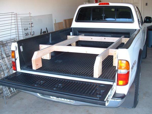 Truck sleeping platform plans truck bed platform for Tent platform plans