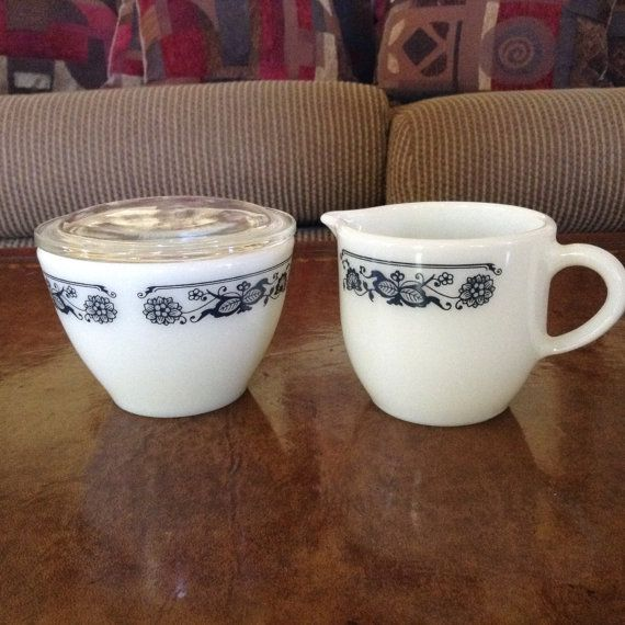 Hey, I found this really awesome Etsy listing at https://www.etsy.com/listing/462951015/corning-creamer-and-sugar-bowl-with-lid