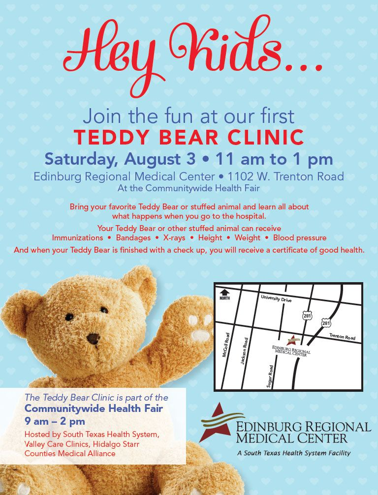 Join the fun at our first Teddy Bear Clinic! Bring your