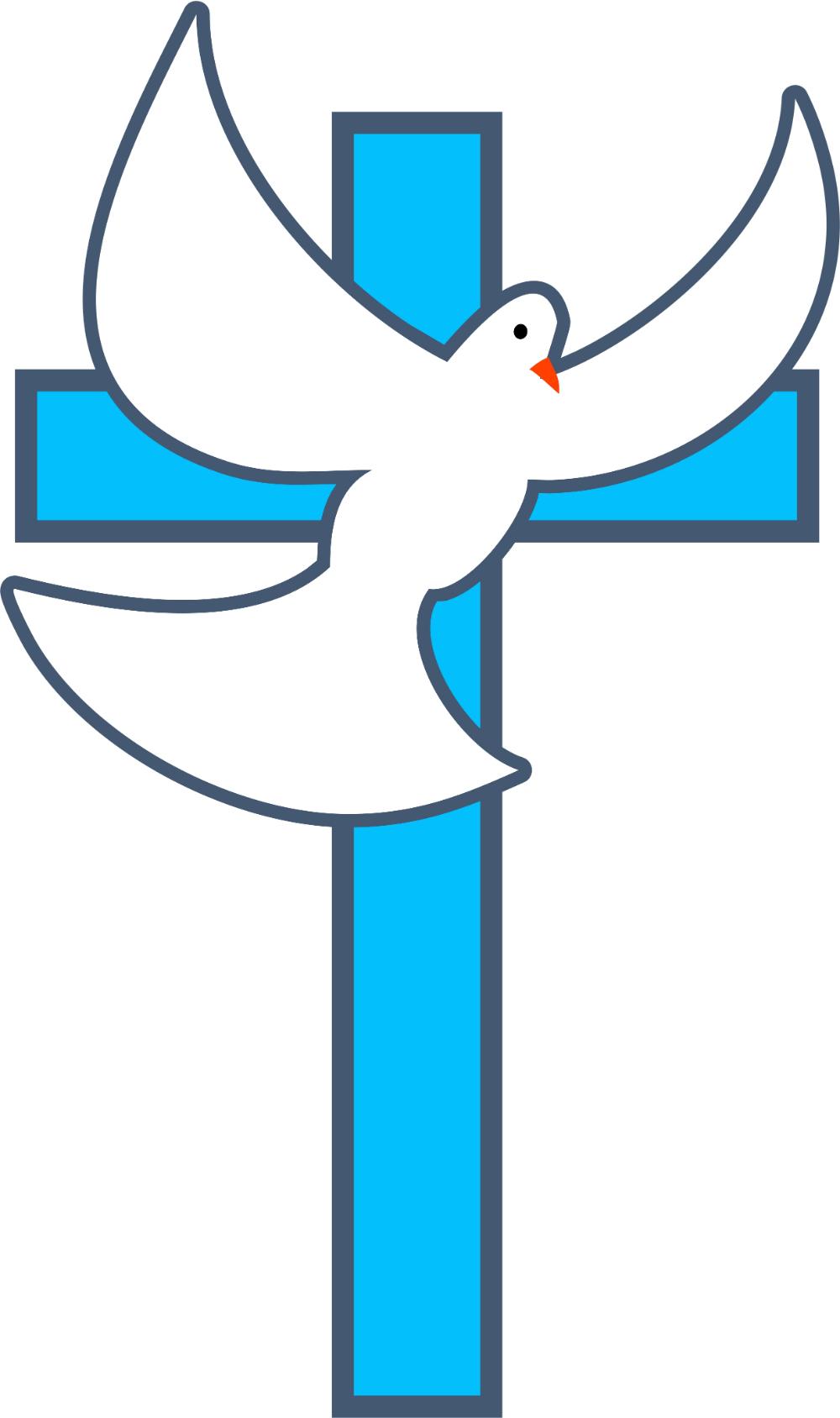 Cross Dove Image Vector Clip Art Online, Royalty Free