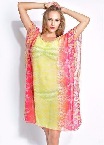 0450c3b6a37 Beach Cover Up Tunic Dress Polyester Kaftan Beach Sunscreen Floral Beach  Cover Ups
