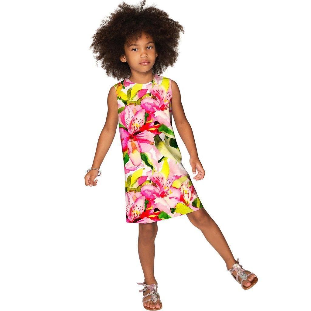 Little Havana Flash Adele Colorful Summer Shift Dress Girls Girls Shift Dress Mommy And Me Dresses Summer Shift Dress [ 1024 x 1024 Pixel ]