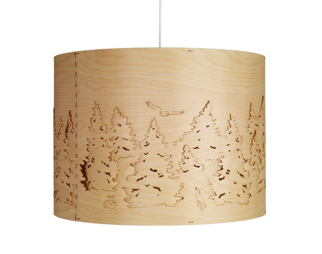 Norwegian forest pendant lights by cathrine kullberg lasercut