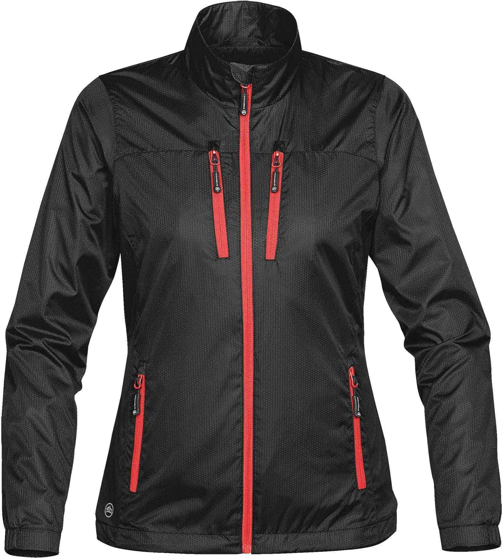 Women's Mistral Shell GXJ1W Women, Orange jacket, Black