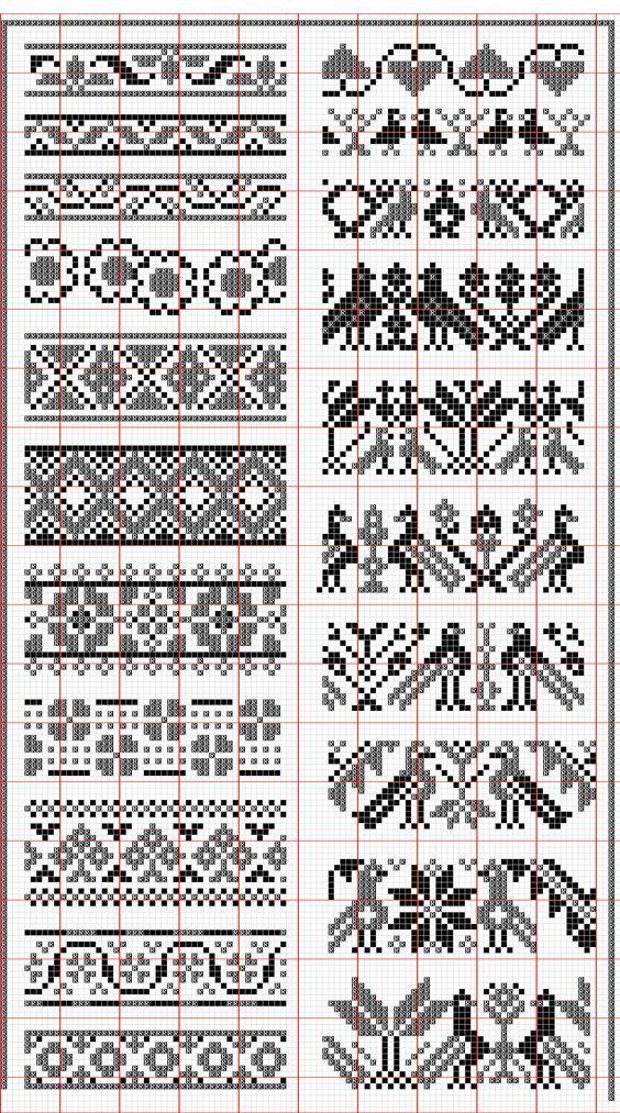 Pingl par kelli andrews sur embroidery textile pinterest broderie point de croix et tricot - Broderie sur tricot point mousse ...