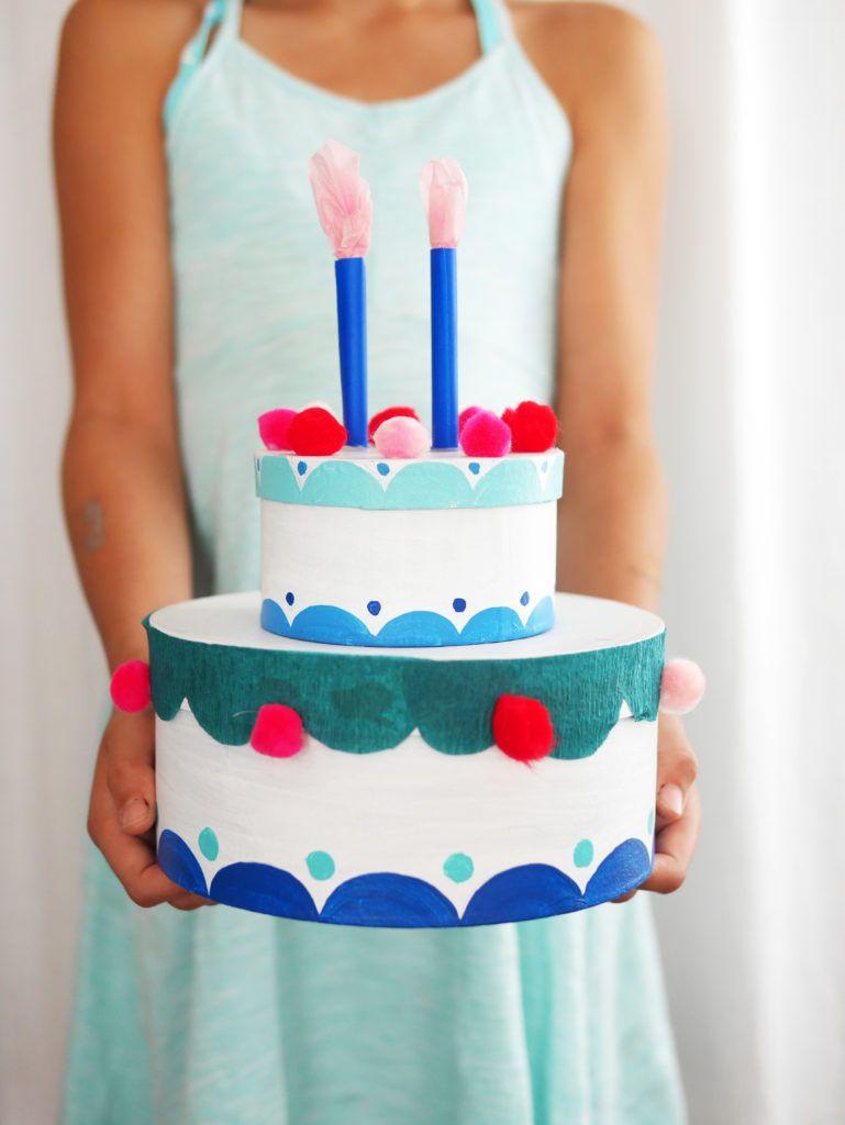 Pretending Play Cardboard Birthday Cake Do It Yourselfs Pinterest