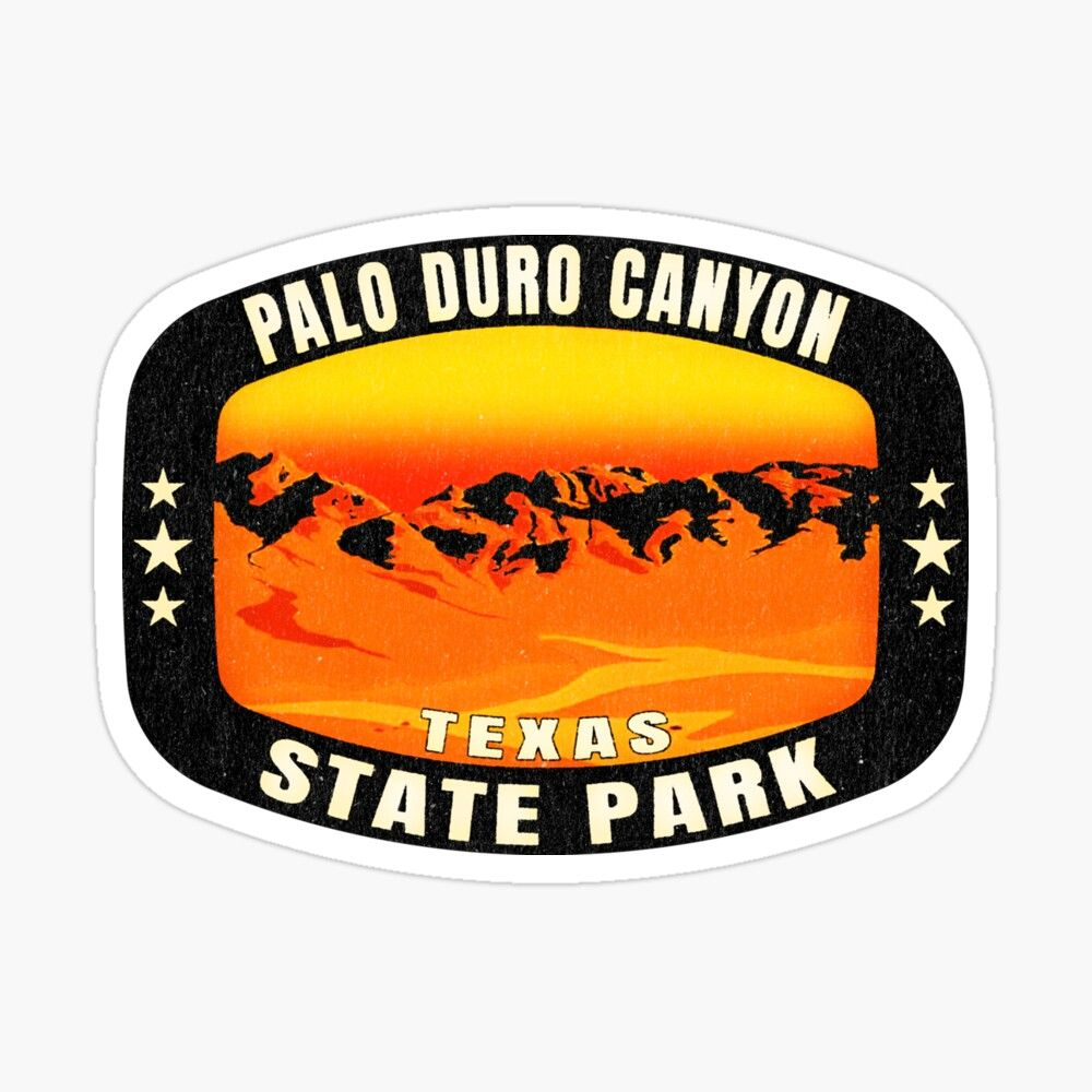 Get My Art Printed On Awesome Products Support Me At Redbubble Rbandme Https Www Redbubble Com I Sticker Palo Du Palo Duro Canyon Palo Duro Texas Stickers [ 1000 x 1000 Pixel ]