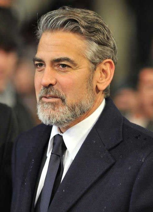 Pin By Trendfrisurenstil On Promi Frisuren Pinterest George Clooney