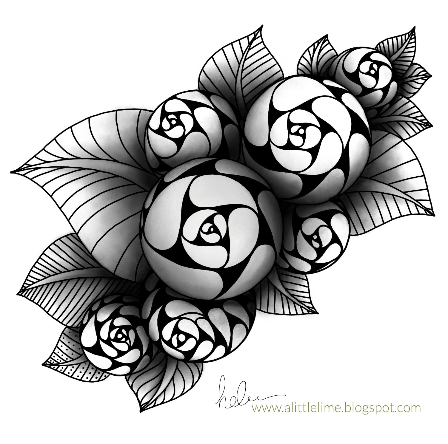 A blog to share my drawings, tangle patterns, videos and tutorials | Flower drawing, Tangle ...