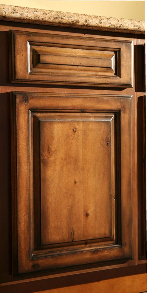 Pecan Maple Glaze Kitchen Cabinets Rustic Finish Sample