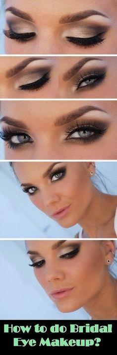 ¿Cómo hacer maquillaje de ojos de novia? Por favor visite nuestro sitio web @ rainbowloomsale.com: