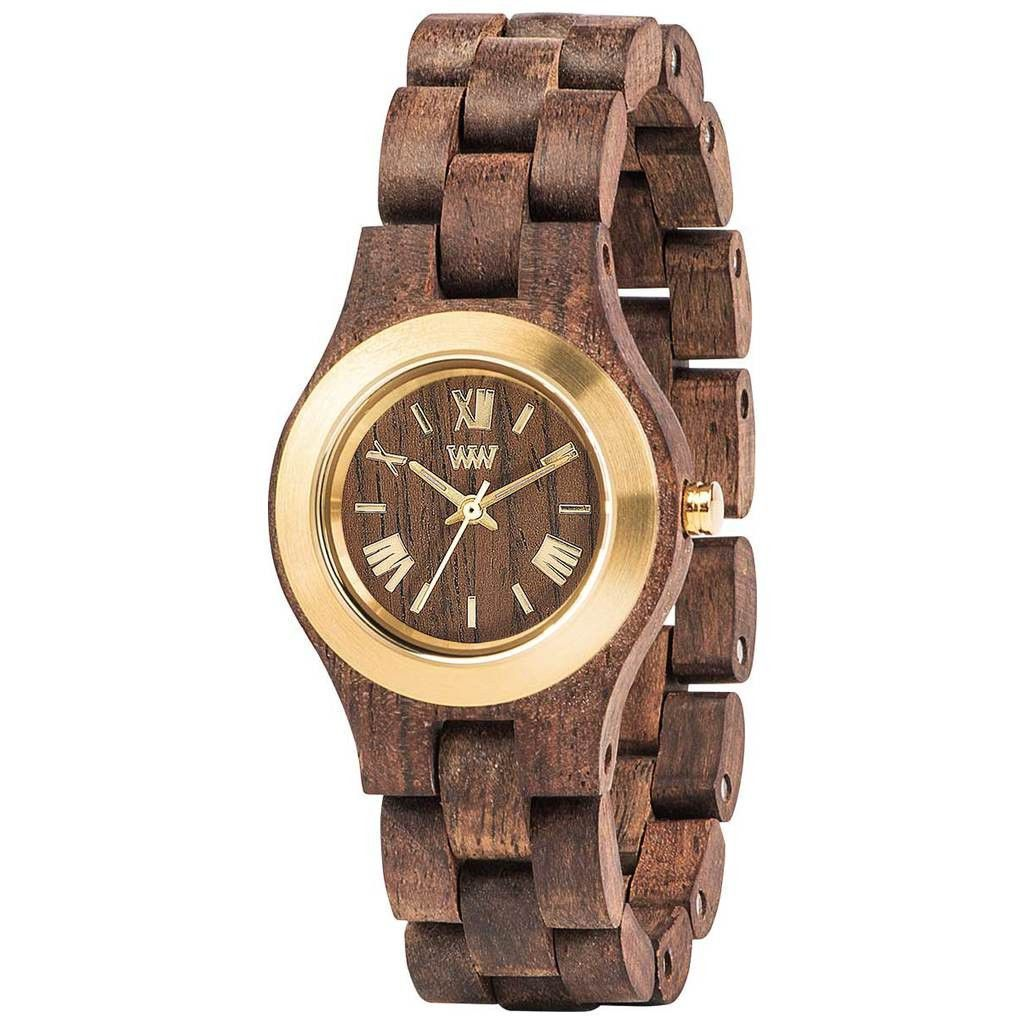 WeWood Criss Metal/Indian Rosewood Watch | Chocolate/Gold