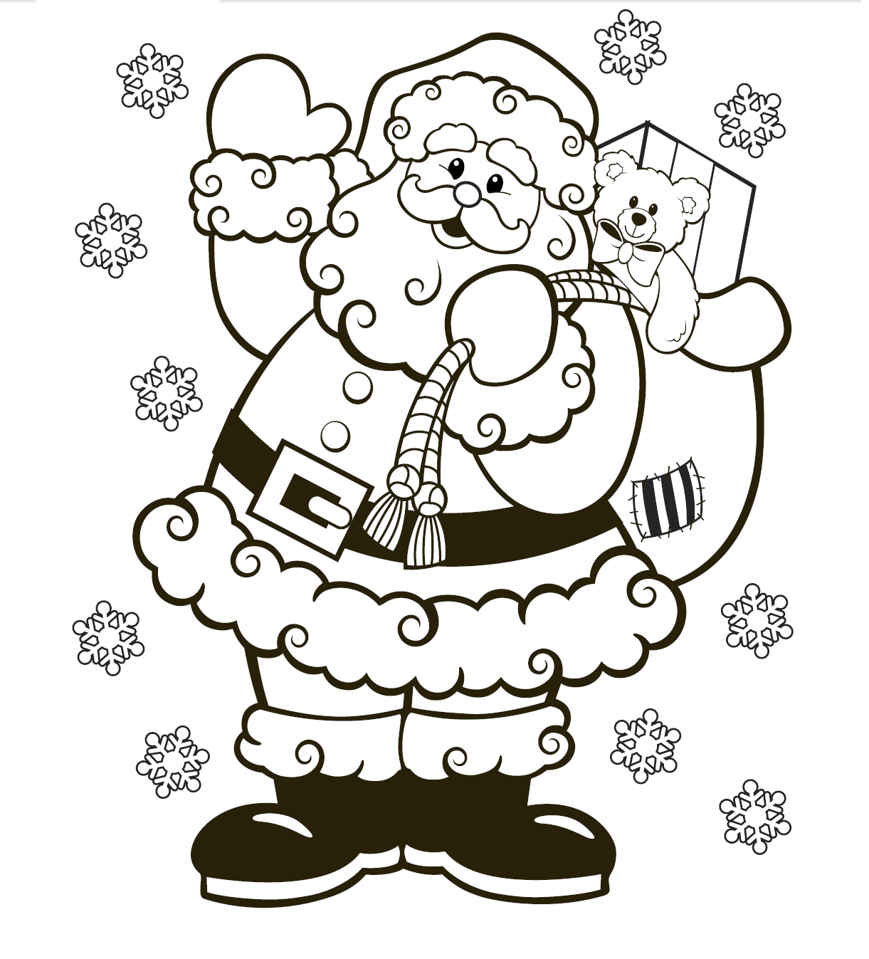 Printable Christmas Colouring Pages - The Organised Housewife | christmas colouring pages