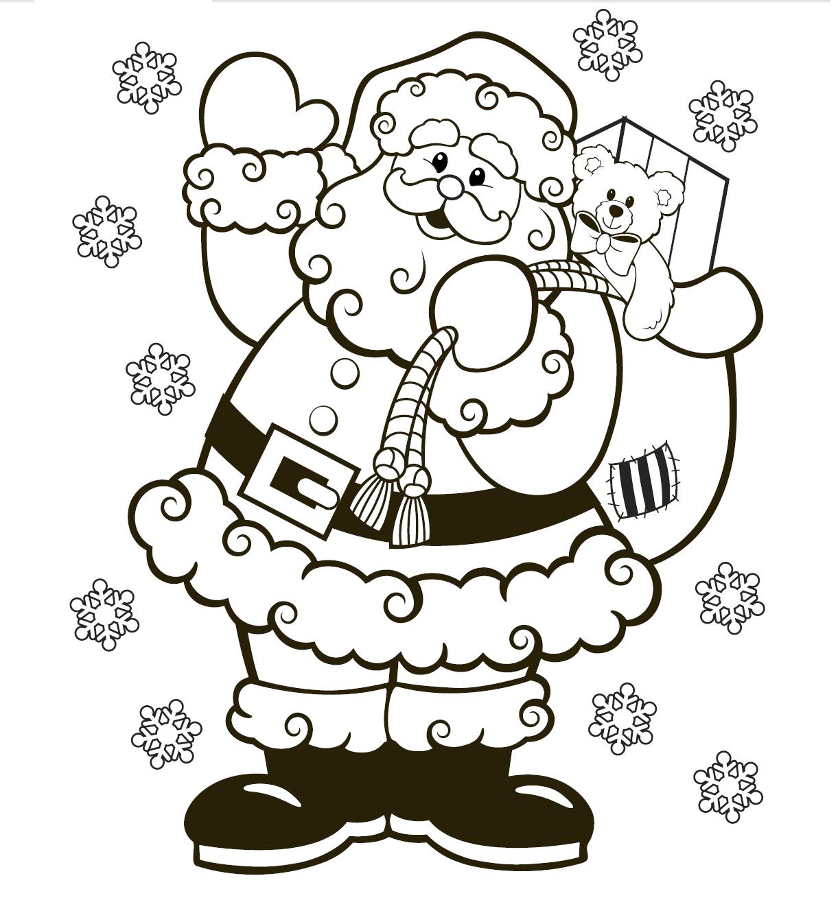Santa Color Page Christmas coloring sheets, Santa
