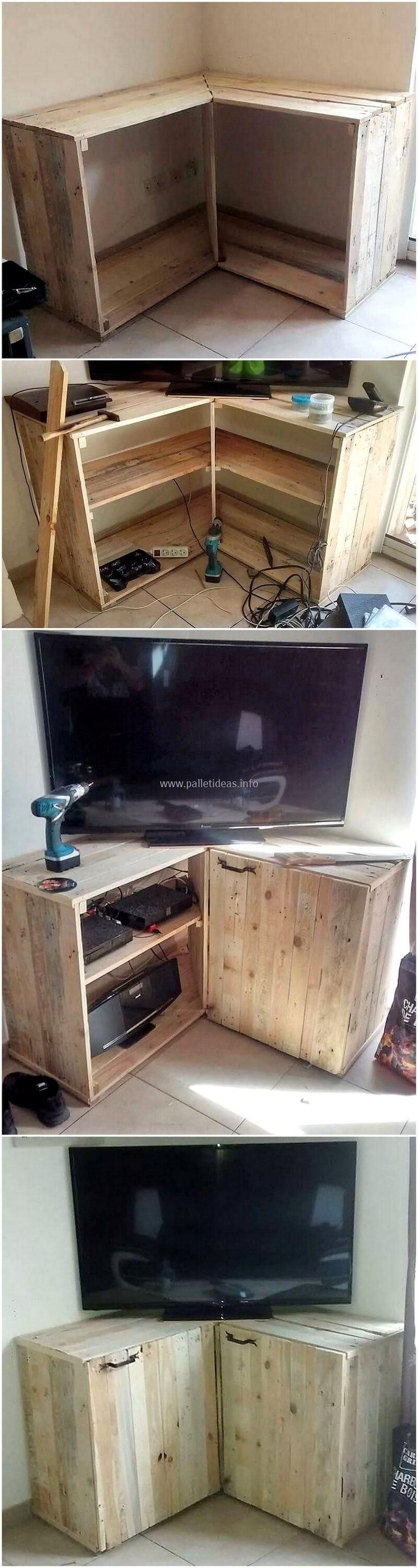 Diy Pallets Wood Corner Tv Stand Is Another Fabulous Pallets