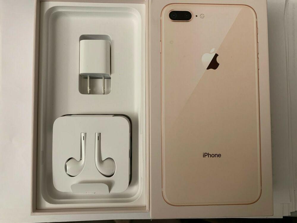 Apple Iphone 8 Plus 64gb Gold Unlocked Box Amp Accessories
