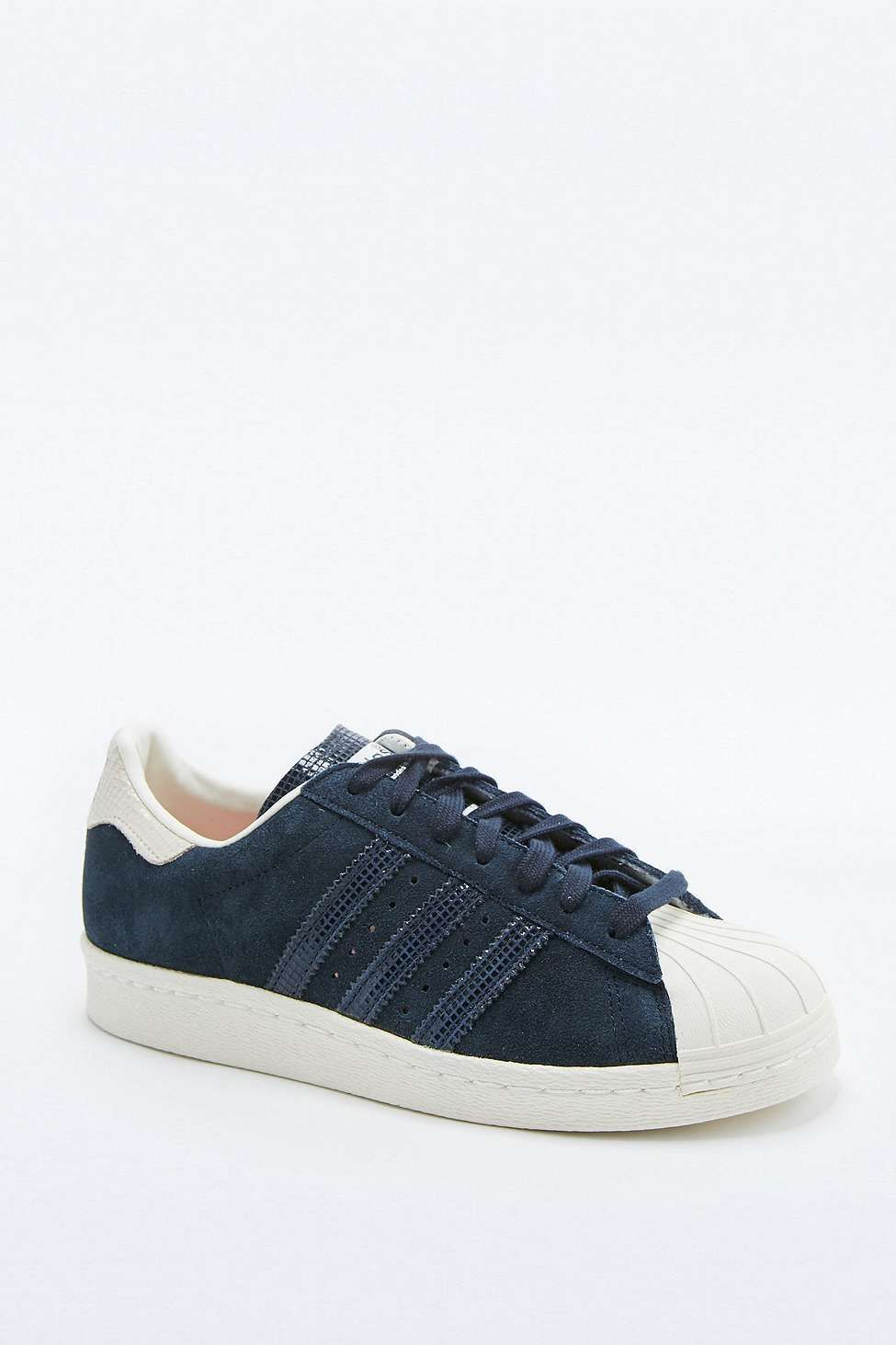 another chance cheap price undefeated x adidas Originals Navy Suede Superstar Trainers | superstar ...