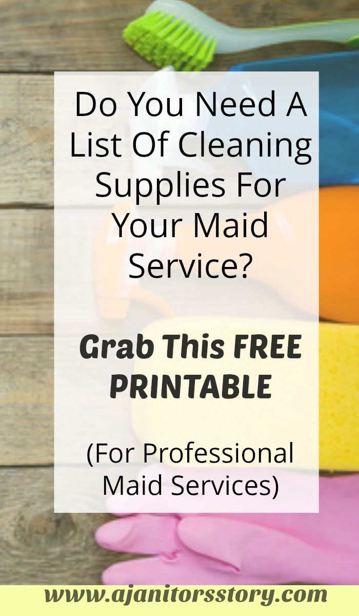 basic list of cleaning supplies useful for residential