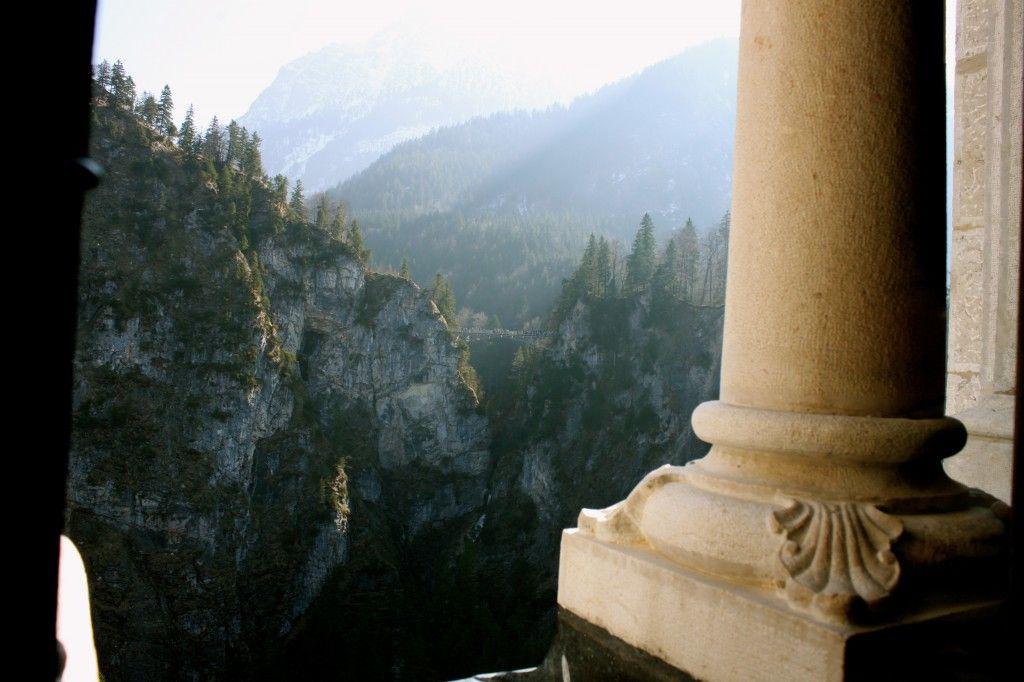 The alpine view from #NeuschwansteinCastle. #Germany #Travel