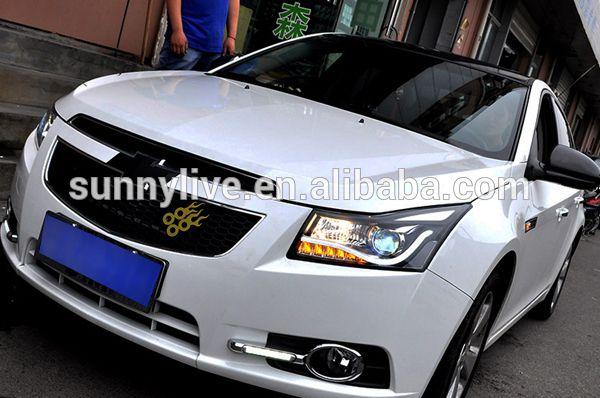 09 12 Cruze Angel Eyes Led Head Light V12 Sy Type For Chevrolet