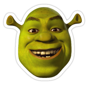 A Small Shrek To Aid You In Your Journeys Also Buy This Artwork On Stickers Apparel Phone Cases And More Snapchat Funny Meme Stickers Funny Stickers