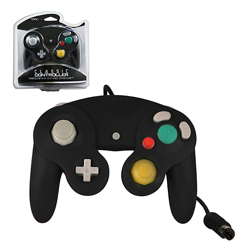 Gamecube wii new wired controller black ttx tech