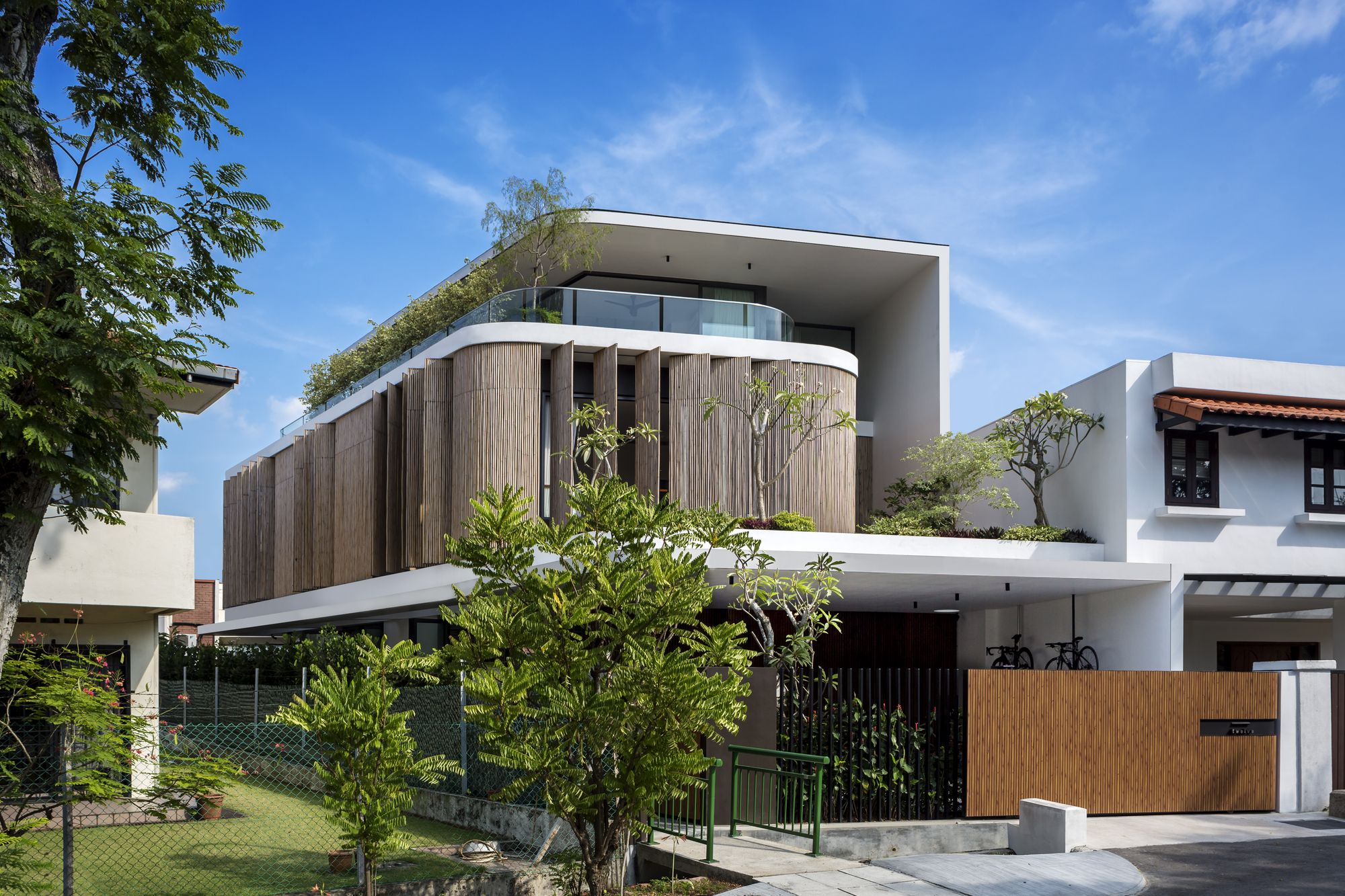 Bamboo Veil House Wallflower Architecture Design Architecture Design Tropical Houses Architecture