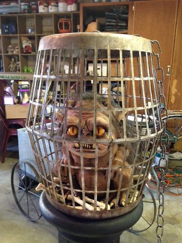 Two Landry Baskets and Spray Paint for various DIY cages Indoor - scary halloween props