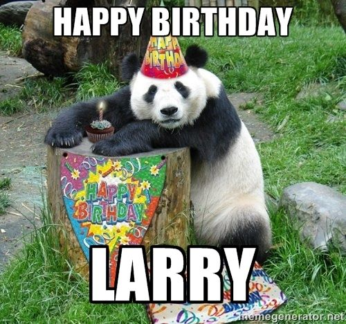 Happy Birthday Larry! (With Images)