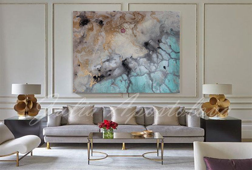 #Watercolor #painting #ArtPrint #AbstractWatercolor #LargeWallArt by…