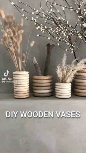 Photo of DIY WOODEN VASE