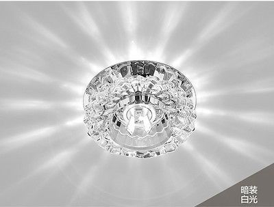 1pc Led Crystal Ceiling Lamp 3w 5w Aisle Chandelier Lighting Fixture Corridor Chandelier Lighting Fixtures Ceiling Lamp Chandelier Lighting