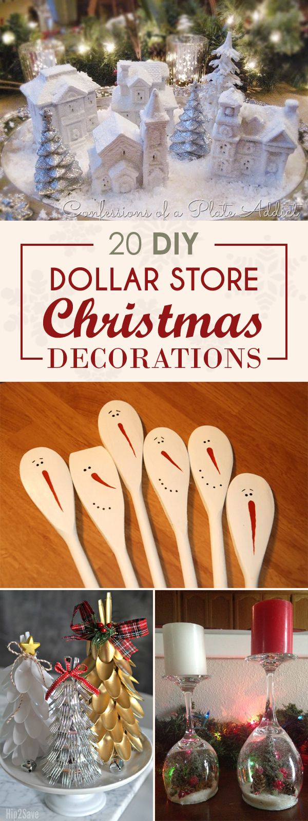 20 Dollar Store Christmas Decorations You Can Easily DIY #dollarstorechristmascrafts