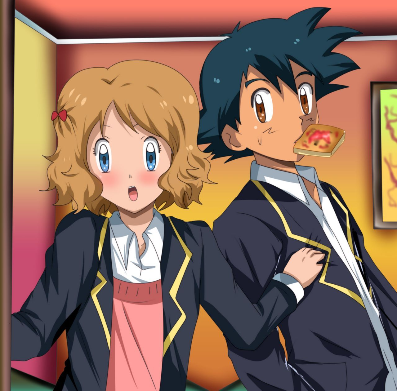 Amourshipping Student By Hikariangelove On Deviantart Pokemon Ash And Serena Pokemon Manga Pokemon Comics
