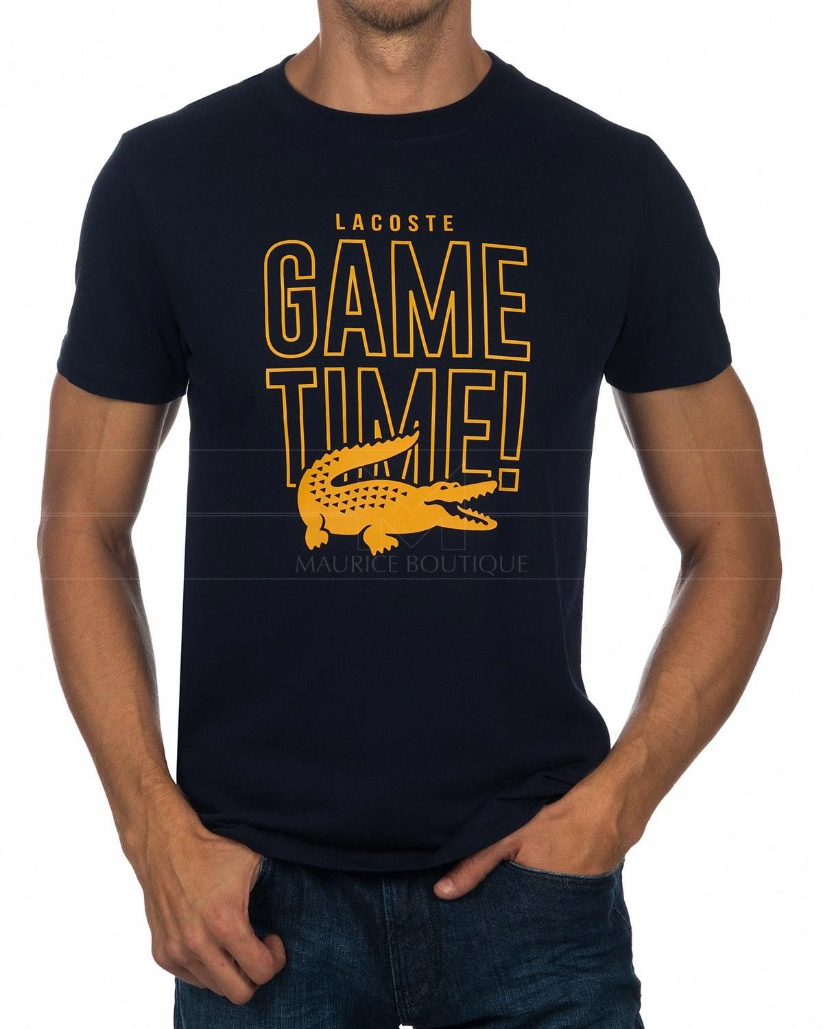 3bfefb7948708 Navy Blue Lacoste Sport T Shirt - Game Time in 2019 | T shirt ...