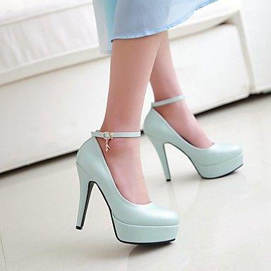 Sandali Primavera casual blu con punta rotonda per donna 6JdDLzTZ