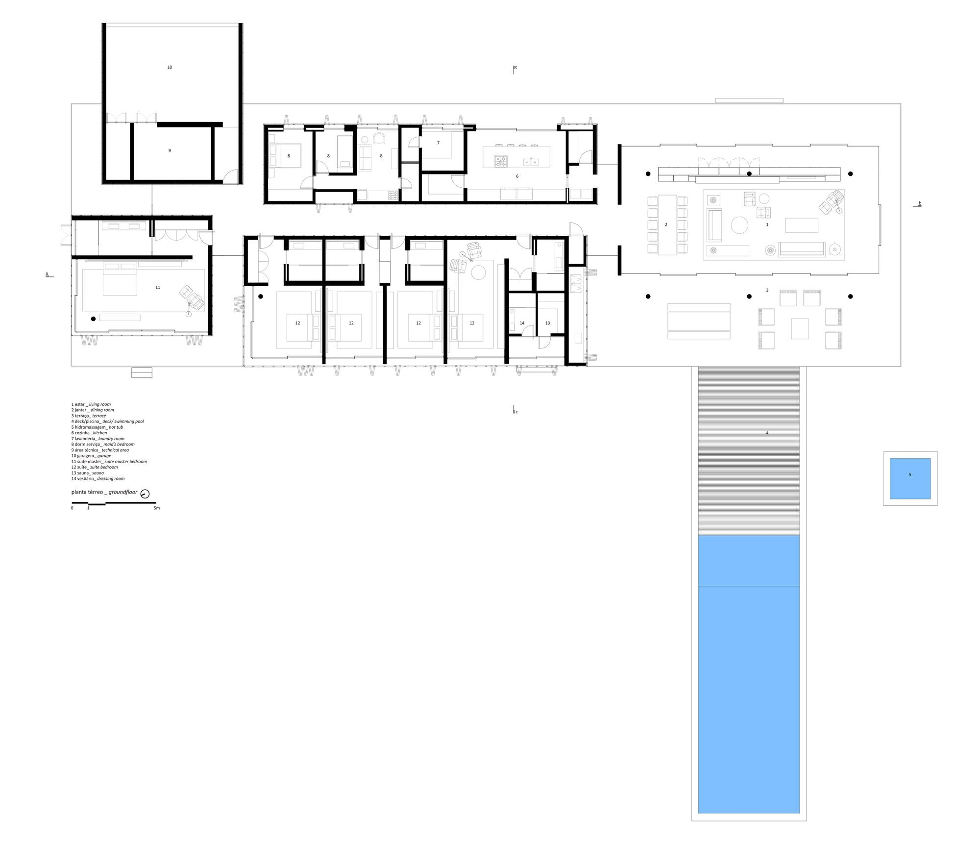 Open layout house concept by studio mk27 - Gallery Of Redux House Studio Mk27 Marcio Kogan Samanta Cafardo 51