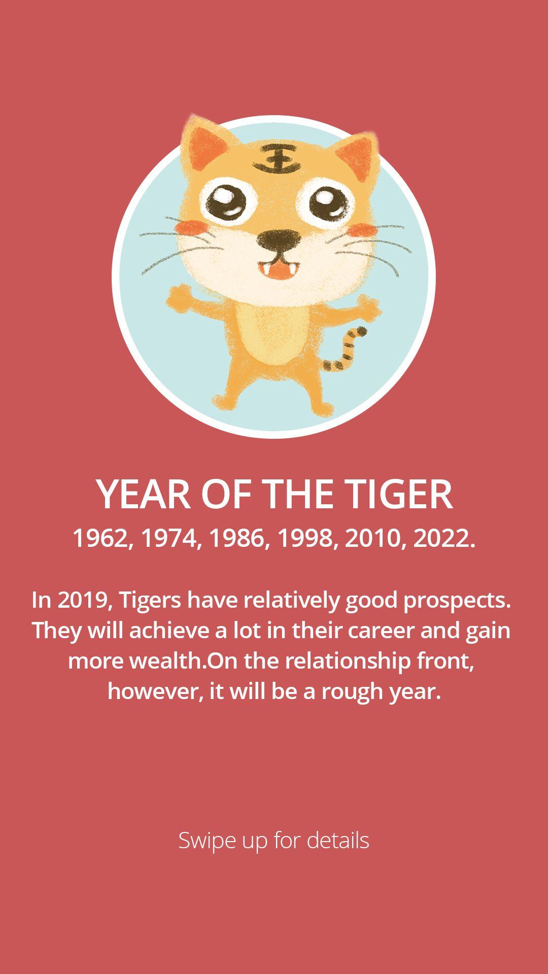 Year of the Tiger Year of the tiger, Tiger, Chinese