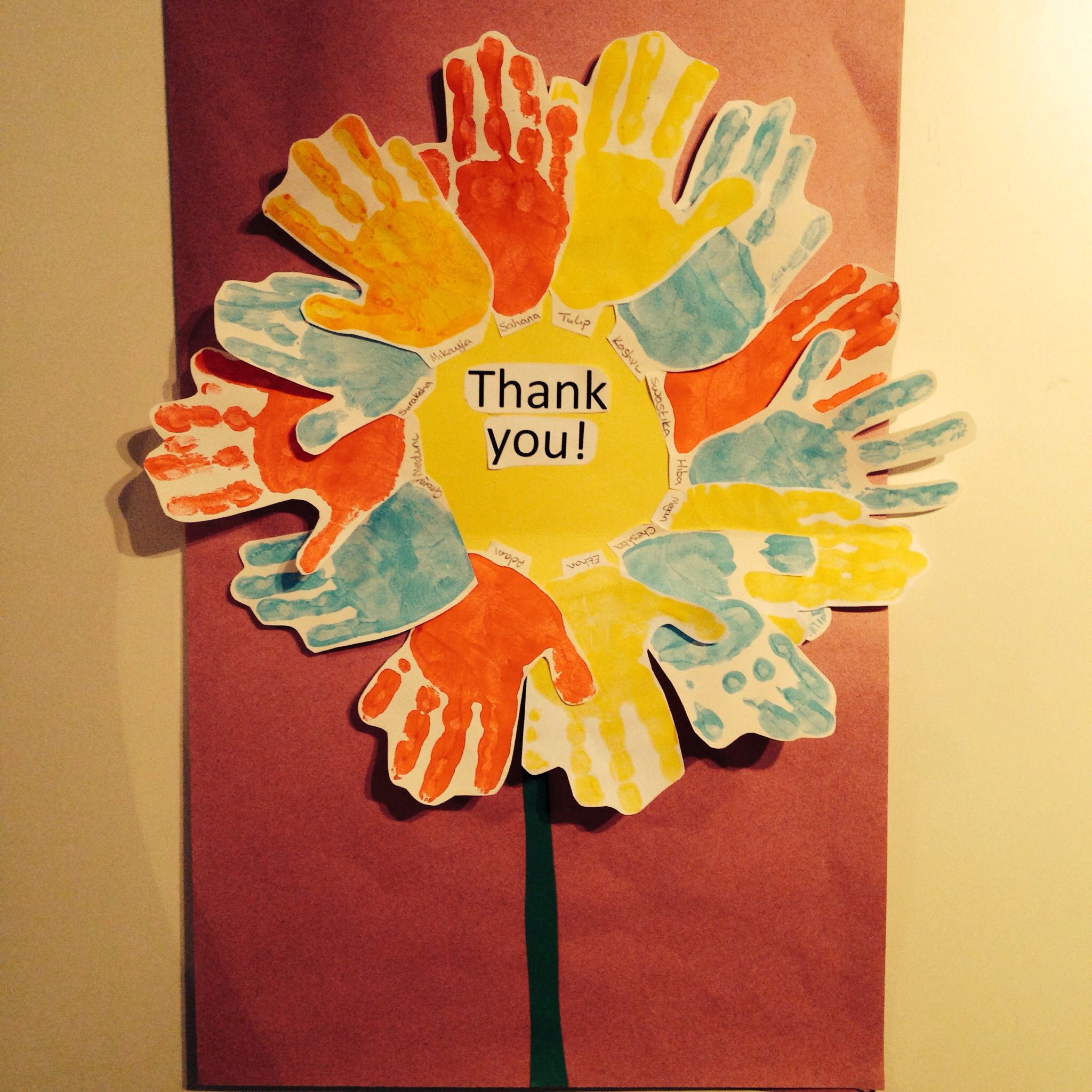 Lovely Idea For A Thank You Card For Any Helper In School This Was One From A Nursery Grou Thank You Cards From Kids Pastors Appreciation Sunday School Crafts