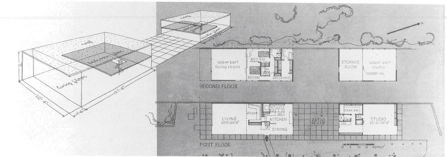 Eames house plan 1949 los angeles charles and ray eames