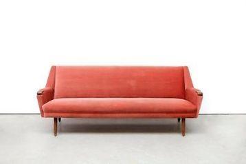 ≥ vintage oud roze deens design bank sofa banken bankstellen
