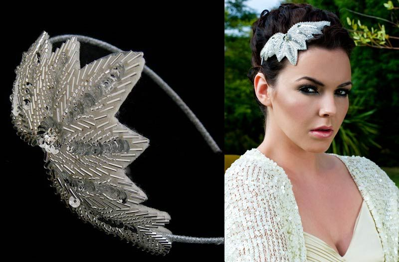 This Chrysler headband definitely makes me want a deco-inspired wedding.