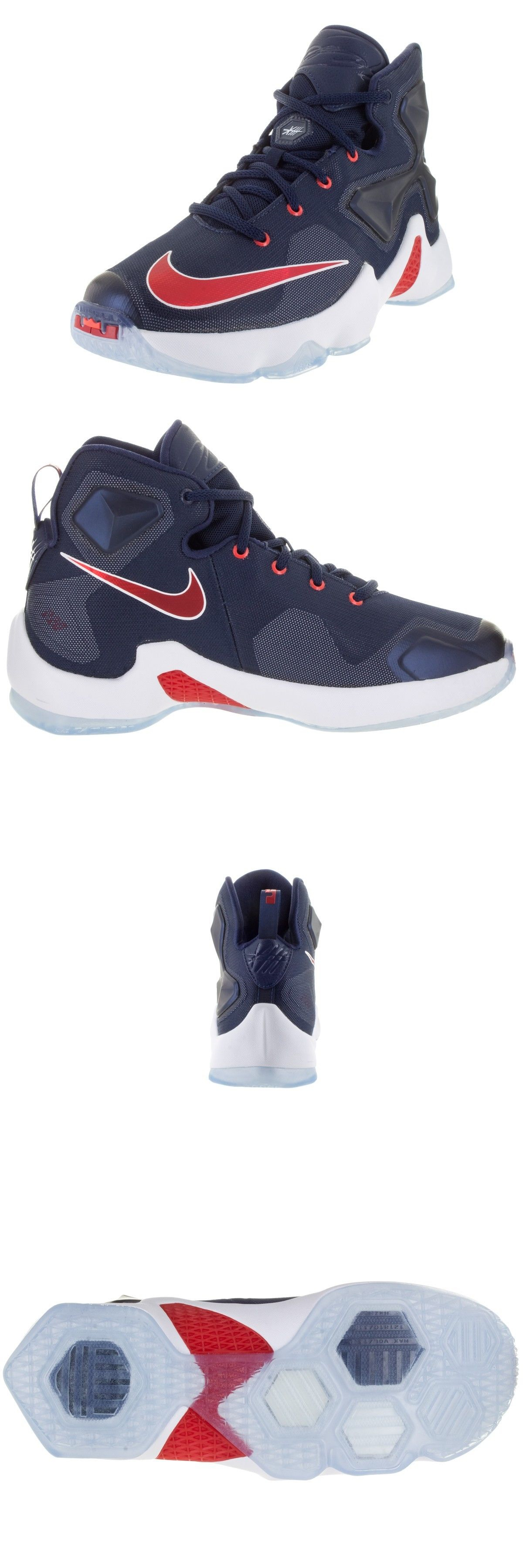 timeless design 2a32a ef553 Youth 158973 Nike 808709-461 Lebron Xiii Usa Red Blue Basketball Shoes  Youth Sz