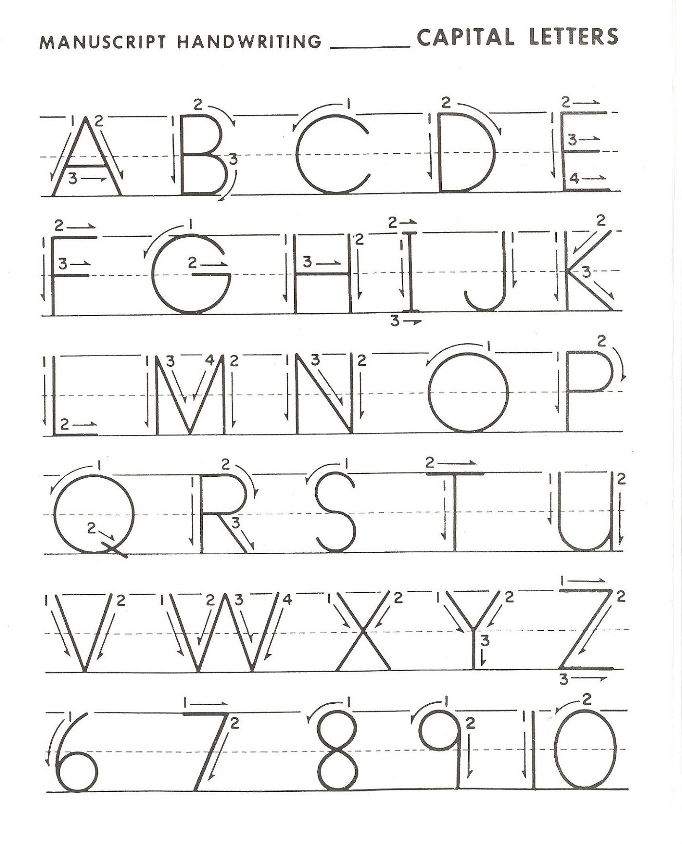 Printable Letter Practice For Kids In