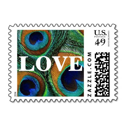 #Peacock #feather #LOVE #postage #stamps