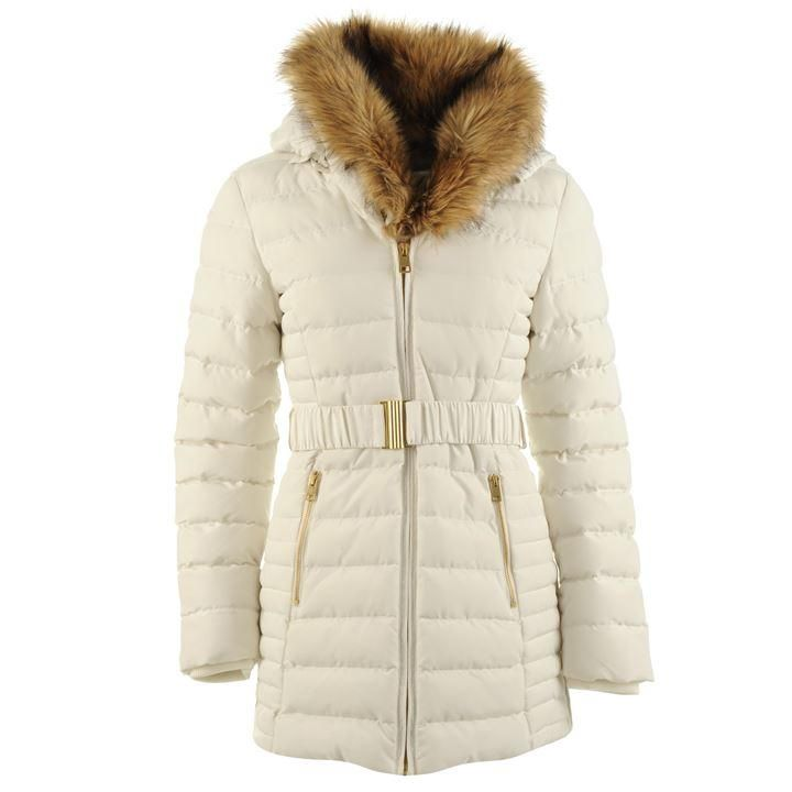 a6bcdbceae94 Golddigga | Golddigga Belted Bubble Jacket Ladies | Ladies Jackets and Coats