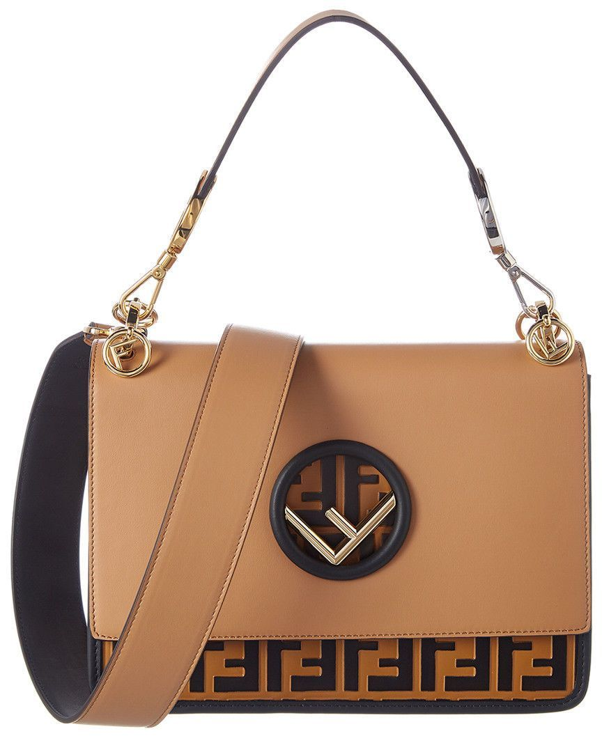 9b2d23179a3b Fendi Women s Leather Handbag Shopping Bag Purse Kan I F Brown 3d3 ...