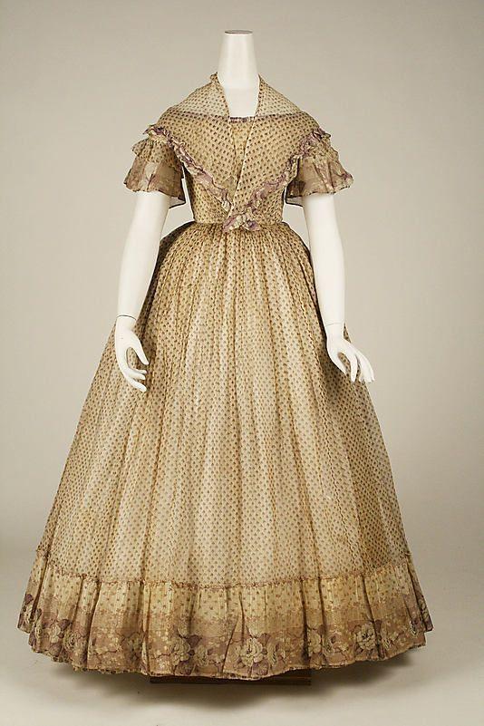 Dress and Pelerine, ca. 1860 via The Met