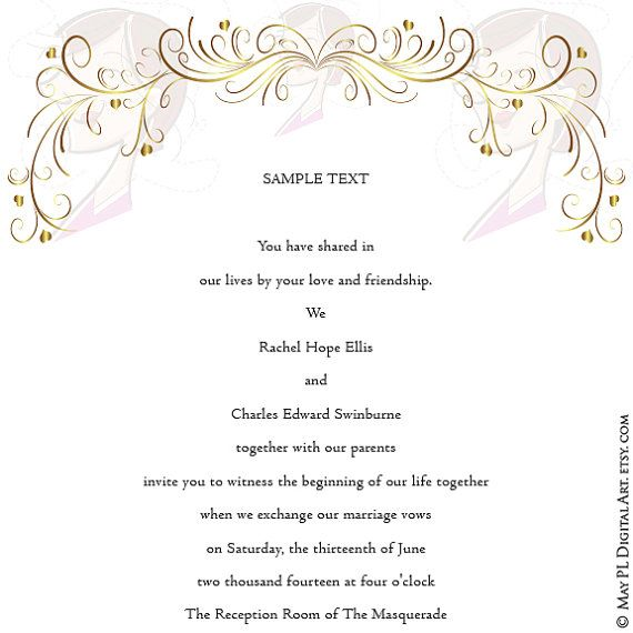 Swirl Borders For Wedding Invitations: Page Border Gold Swirls Clipart